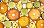 Sliced lemons and limes of many varieties